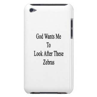 God Wants Me To Look After These Zebras iPod Touch Case-Mate Case