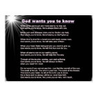 God wants you to know Postcard