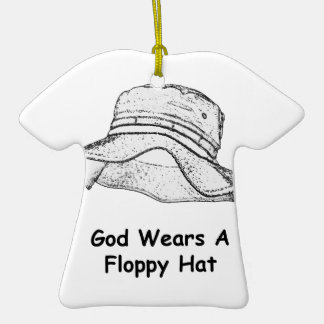 God Wears A Floppy Hat Christmas Ornament