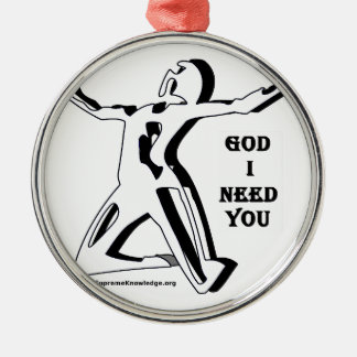 God Where Are You I Need You Now Silver-Colored Round Decoration