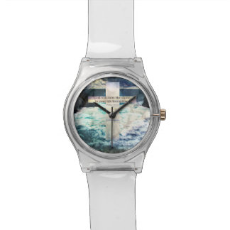 God will calm the storm in your life to a whisper wristwatches