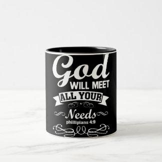 'God Will Mееt all Yоur Nееdѕ' Mug