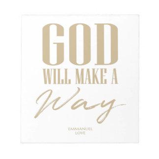 God will make a way notepad