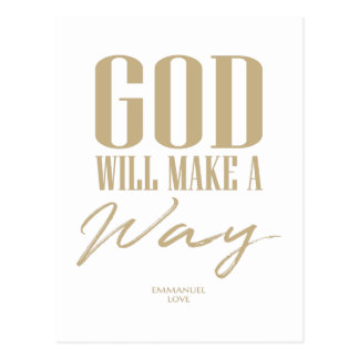 God will make a way postcard
