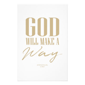 God will make a way stationery
