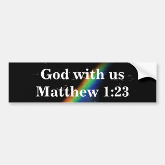 GOD WITH US BUMPER STICKER