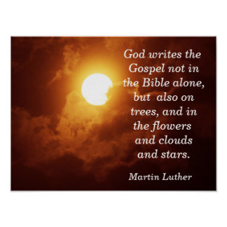 God writes the Gospel - Art Print
