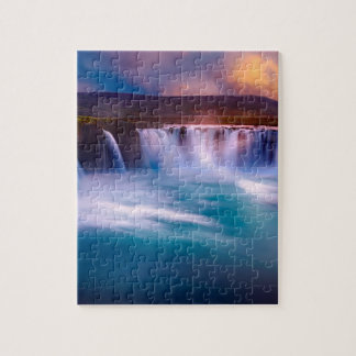 Goðafoss waterfall in Iceland Jigsaw Puzzle