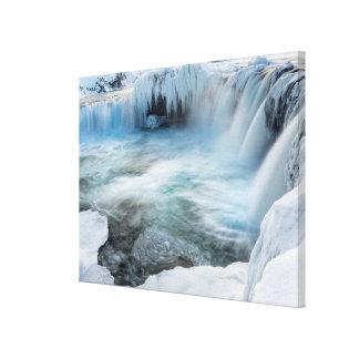 Godafoss waterfall, winter, Iceland 2 Canvas Print