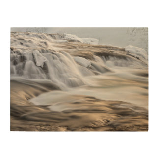 Godafoss waterfall, winter, Iceland 3 Wood Print