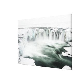 Godafoss waterfall, winter, Iceland 4 Canvas Print