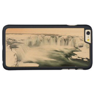 Godafoss waterfall, winter, Iceland Carved Maple iPhone 6 Plus Case