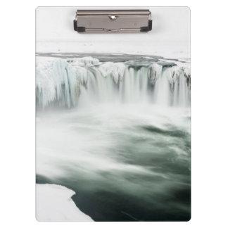 Godafoss waterfall, winter, Iceland Clipboard