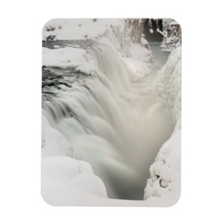 Godafoss waterfall, winter, Iceland Magnet