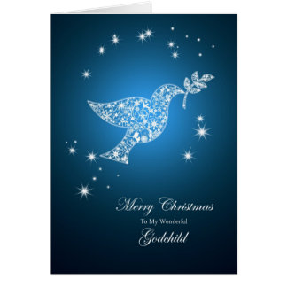 Godchild, Dove of peace Christmas card