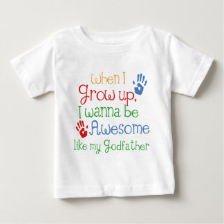 Godchild Gift Awesome Godfather Baby T-Shirt