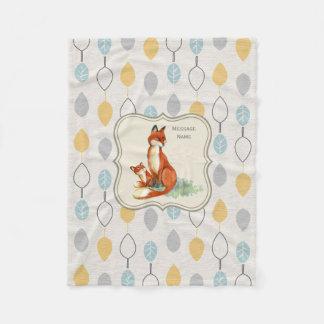 Godchild Gift Idea Personalized Fox Blanket