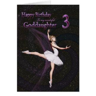 Goddaughter age 3, a ballerina birthday card