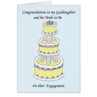 Goddaughter and bride to be on engagement. card