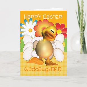 Goddaughter easter gifts on zazzle au goddaughter easter card with chick eggs and bright negle Images
