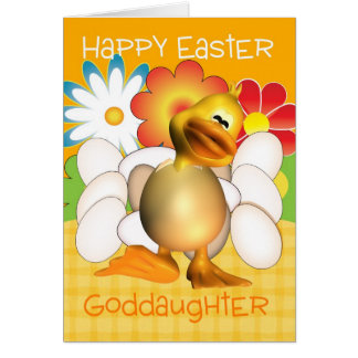 Goddaughter easter gifts t shirts art posters other gift goddaughter easter card with chick eggs and bright negle Image collections