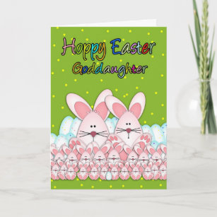 Goddaughter easter gifts on zazzle au goddaughter easter card with easter bunnies negle Gallery