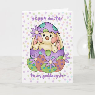 Goddaughter easter gifts on zazzle au goddaughter easter card with easter bunny greeti negle Gallery