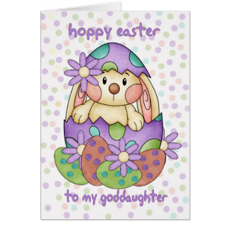 Goddaughter Easter Card With Easter Bunny - Greeti