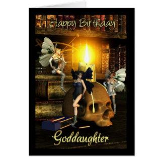 goddaughter, fairy lights - fairy birthday card