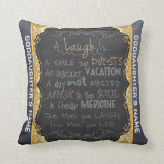 Goddaughter Gift Be Happy Personalised Cushion