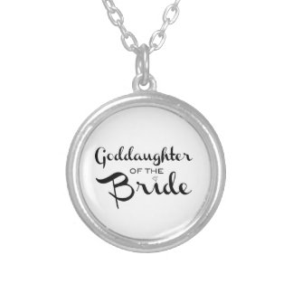Goddaughter of Bride Necklace Black On White Necklace