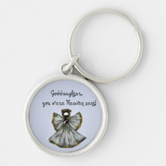 Goddaughter, you were Heaven sent! Silver-Colored Round Key Ring