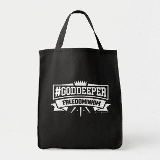 #GODDEEPER (TM) - Freedom In Him Budget Tote Bag