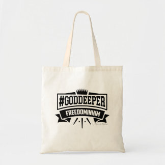 GODDEEPER (TM)- Freedom In Him Tote Bag (Natural)