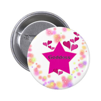 GODDESS 6 CM ROUND BADGE