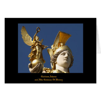 Goddess Athena And Goddess Of Victory card! Card