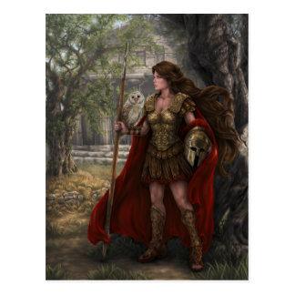 Goddess Athena Postcard by Artist Lindsay Archer