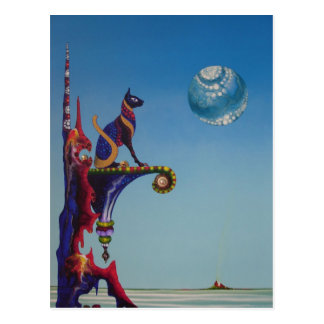 GODDESS (Bastet) postcard