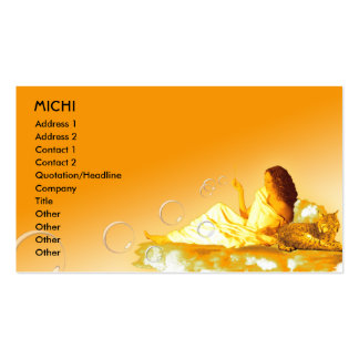 Goddess Biz Card Template Double-Sided Standard Business Cards (Pack Of 100)