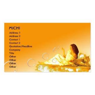 Goddess Biz Card Template Pack Of Standard Business Cards