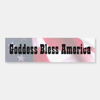 Goddess Bless America Bumper Sticker
