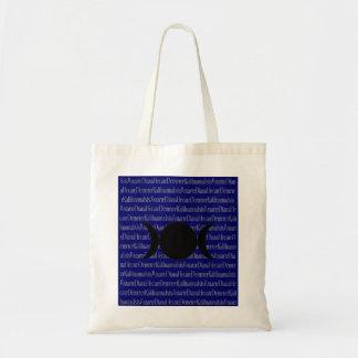 Goddess Chant (dark blue) Tote Bag