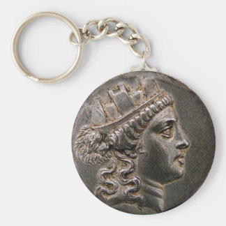 Goddess Cybele Tetradrachm Basic Round Button Key Ring