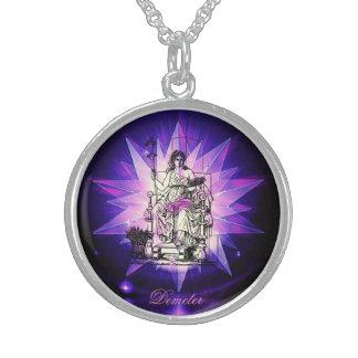 Goddess Demeter! Sterling Silver Necklace