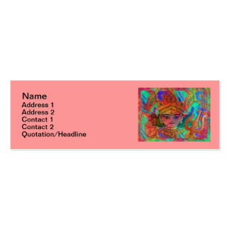 "Goddess Durga2 Skinny 3""x1"" Business Card"