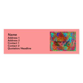 "Goddess Durga2 Skinny 3""x1"" Business Card"