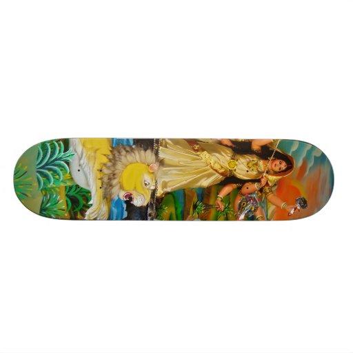 Goddess Durga at Durga festival in Burdwan Skateboard Deck