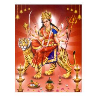 Goddess Durga (Hindu goddess) Post Cards