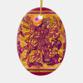 Goddess Durga Oval Ornament