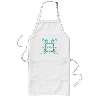 Goddess Floral Apron, Turquoise